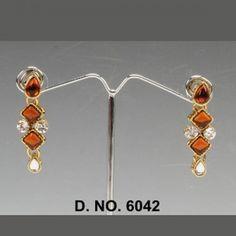 Stone With Maroon earrings Eariings By Swarajshop