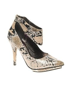 Lipsy Snake Shoe With Ankle Cuff