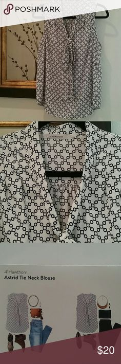41 Hawthorn Tie-Neck Blouse NWOT. 41 Hawthorn Tie-Neck Blouse. This blouse can be dressed-up or down.  Never worn. 41 Hawthorn  Tops Blouses