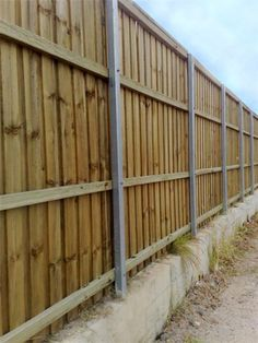 Acoustic Lapped and Capped Backyard Fences, Garden Fencing, Fence Ideas, Yard Ideas, Acoustic Barrier, Outside Sheds, Fence Gate, Arbors, Dividers
