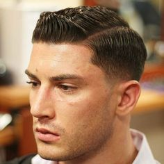 Low Fade with Side Part