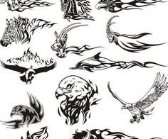 24 Best Animal Tattoo Drawing Designs Images Tribal Animals