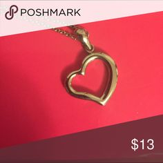 """Stainless Steel Heart Charm on chain Steel by Design (QVC) heart charm on 16""""chain. Steel by Design Jewelry Necklaces"""
