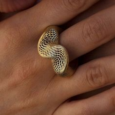 Top Twisted Ring Mobius Gold Ring 14k Gold by HellaGanorJewelry