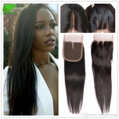 Unprossed Malaysian Straight Hair With Lace Closure Malaysian… Silk Hair, Lace Closure, Straight Hairstyles, 4x4, Fashion, Moda, Fashion Styles, Fashion Illustrations