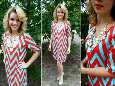 Hey Campbell Cuties! Have you been in recently to check out our new arrivals? Don't miss out! Check them out now! Chevron Shift Dress $40.00 Statement Necklace $36.00