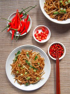 Soy Sauce Stir-Fried Noodles | vermilionroots.com. A quick and easy vegetarian noodle stir-fry that packs in the flavor!