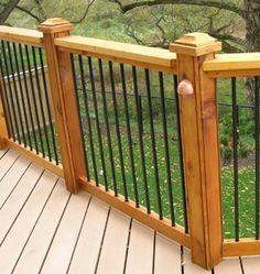 Sleek, Iron rails for inside staircase.