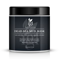 Indie Green Living Dead Sea Mud Mask remove blemishes blackheads, deep skin cleanser, clears acne, encourages blood flow, adds nutrients, mineral infused, additive free -- Read more reviews of the product by visiting the link on the image. (Note:Amazon affiliate link)