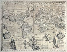 Christian knight world map, c.1596