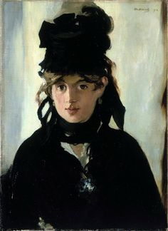 Berthe Morisot by Manet, 1872, Musee D'Orsay