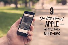 Check out 9 Real Photo Apple Street Mock-ups by ZedProMedia on Creative Market