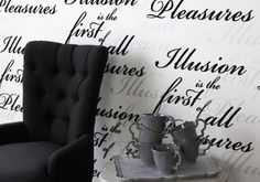 Black & White Wallpaper Collection (source Eijffinger) / Wallpaper Australia / The Ivory Tower Designer Wallpaper, Wallpaper S, Wallpaper Designs, Decorated Toms, South African Homes, Black And White Wallpaper, Black White, Painting The Roses Red, Book Names
