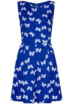 Cobalt Blue Butterfly dress blue