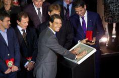 Rafael Nadal - Rafa Nadal Receives 'Marca Award' in Madrid, November, 2013.