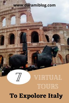 If you are looking for adventure but you are stuck at home, guess what? There are aso many virtual tours you can go on, like museums and galleries. Here are my favorite 7 for you to visit Italy! #virtual #VR #Onlinetour #experience #virtualexperience #stayathome Virtual Travel, Virtual Tour, Travel Around The World, Around The Worlds, Best Flight Deals, Top Blogs, Roman History, Online Travel, Visit Italy