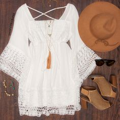Karen Lace Dress - White