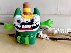 Green peas japanese daruma hugging cat by zeropumpkin on Etsy, $28.00
