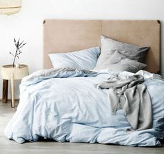 Sine Quilt Cover Range Cloud Blue - Quilt Covers - Bed