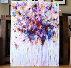 Art painting violet purple abstract painting abstract by artbyoak1