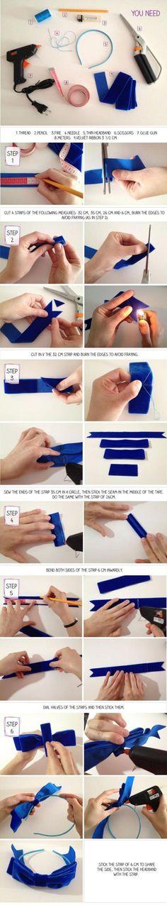 How To Make Headband Bow - big bow