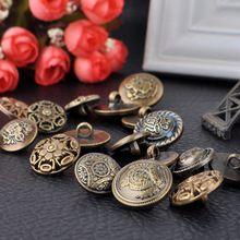 16 Tipos de bronze Antigo Botões Para Costura, Scrapbooking, Artesanato, DIY botões de Resina Acessórios de Pano Frete Grátis(China (Mainland))
