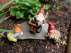 Grandpa Gnome Two Grandkids Garden Decor Yard Ornaments Resin Anthony Fisher New on ChosenTreasures4u and Fairyvillages Stores on ebay!