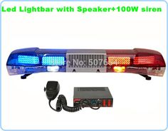 512.53$  Watch here - http://ali0on.worldwells.pw/go.php?t=32328074501 - High intensity 120cm 88W Led car Emergency lightbar police warning light bar with 100W speaker+100W siren,waterproof 512.53$