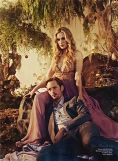 Alexander Skarsgard and Anna Paquin Are Swamp Sexy in Entertainment Weekly. True Blood <3 fav.