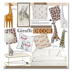 """""""Giraffe Decor"""" by kusja ❤ liked on Polyvore featuring interior, interiors, interior design, home, home decor, interior decorating, Decoylab, Rosa & Clara Designs, Jonathan Adler and Home"""
