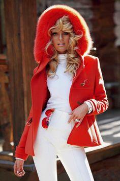 Candice Swanepoel by Sebastian Faena for V Magazine#74 (Winter 2011/2012) Editorial: Ski Bunny Coat Sunglasses: Dior Turtleneck: Stefanel Pants: Bogner