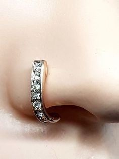 Sterling Silver 4 Claws Set Pronged AB Iridescent CZ 2mm Crystal Nose Studs 22g