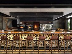 Studio-Collective is a boutique design agency located in the heart of Santa Monica. Restaurant Design, Cool Restaurant, Luxury Restaurant, Cafe Interior Design, Interior Design Inspiration, Pantone, Furniture Brochure, Bistro Design, Bar Seating