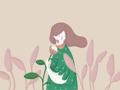 Miss Flower by Nata Shchepanska