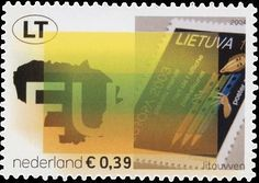 Netherland stamp: Expansion of the European Union  - Lithuania