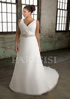 Plus Size Bridal Dress Plush Organza with Intricate Beading price USD $153 - PARISISI ONLINE DISCOUNT SHOP