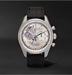 769252a9639 Zenith - El Primero Chronomaster Stainless Steel and Alligator Watch