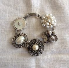 Vintage Earring Bracelet from Upcycled Vintage by heartsoftoday, $40.00