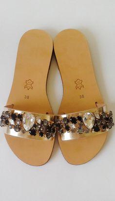 dreamy jeweled flat sandals