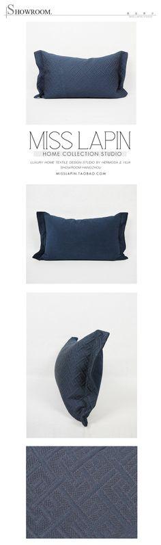 MISS LAPIN澜品家居/ 新古典/样板房/家居软装/靠包抱枕/蓝色古典花纹提花腰枕/布艺pillow /cushion /cushion cover-淘宝网
