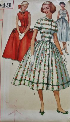 1950s Party Dress and Jacket Simplicity by BluetreeSewingStudio, $14.00