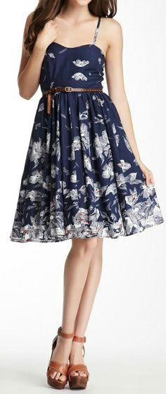 Belted swing dress