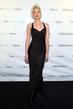 "Amber Heard in Yves Saint Laurent at the Metropolitan Opera gala premiere of ""Manon"" #amberheard #YSL"