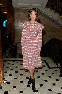 Alexa Chung attends the Business Of Fashion 500 Gala Dinner during London Fashion Week Spring/Summer 2016 on September 21, 2015 in London, England.