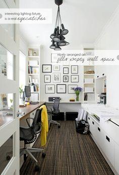 #homeoffice #workspace #wallart #lighting #white #modern