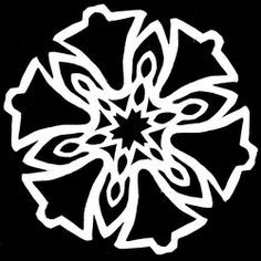 A downloadable book of over 50 paper snowflake patterns for only $1... the pattern prints right where you need to cut once folded!