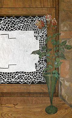 Barbara Gatti Cocci - Titolo - Sul davanzale - matite colorate e tempera bianca - cm 45 x 75 - anno 2011