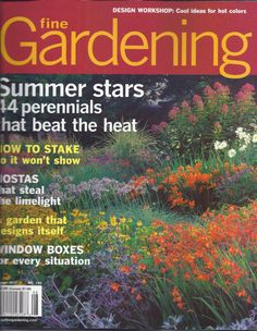 Details About Fine Gardening Magazine Perennials Plant Combos Rain Barrels  Trees Window Boxes