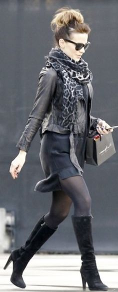 """Underworld"" star Kate Beckinsale street style"