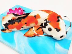Koi fish cake  The only time you'll catch me eating anything fishy  #pin #mysugarrush